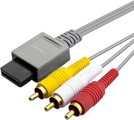 Insten el compuesto AV Cable compatible con Nintendo Wii y Wii U Audio Video Juego de televisión de alta definición de TV de pantalla Cable de 6 pies: Amazon.es: Videojuegos