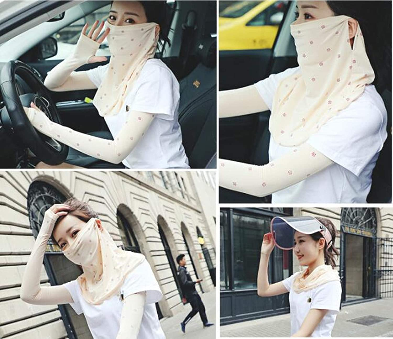 Women UV Face Mask Sun Protection Scarf Shields Gaiter Neck Summer Balaclava Bandana UPF 50+UV Block