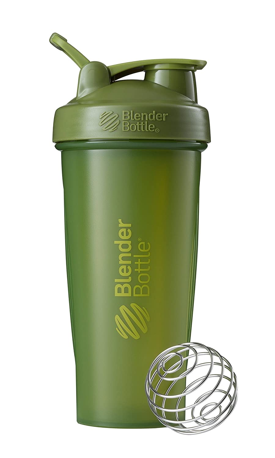 BlenderBottle Classic Loop Top Shaker Bottle, 28-Ounce, Moss Green/Moss Green