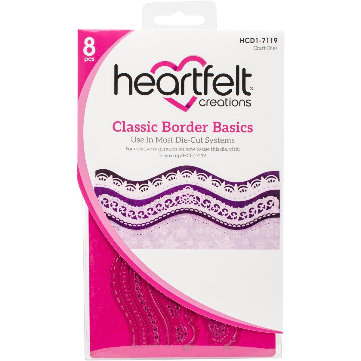 Heartfelt Creations Classic Border Basics .25'' to 7'' Emboss Dies