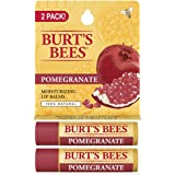 Burt's Bees 100% Natural Moisturizing Lip Balm, Pomegranate with Beeswax and Fruit Extracts - 2 Tubes