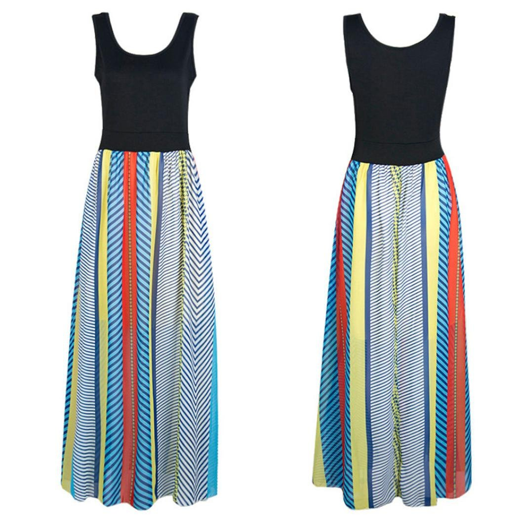 Usstore Women Bohemian Off The Shoulder Backless African Print Dresses (S) by Usstore (Image #3)