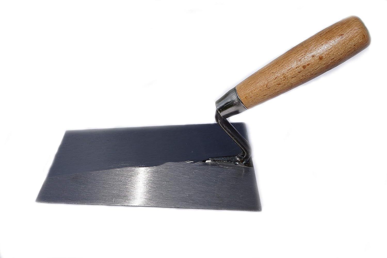 Maurerkelle Stahl S-Bogen S-Hals Holzgriff 200 mm
