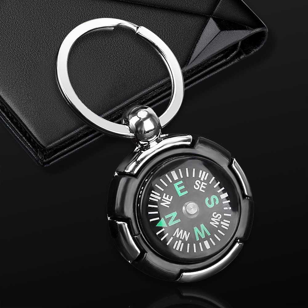 Type A iTimo Car Key Rings Compass Helm Keychain Keyring Hiking Navigation Accessories Gift For Friend Creatively Design Car Styling