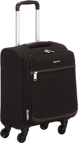 AmazonBasics Softside Carry-On Spinner Luggage Suitcase – 18.5 Inch, Black
