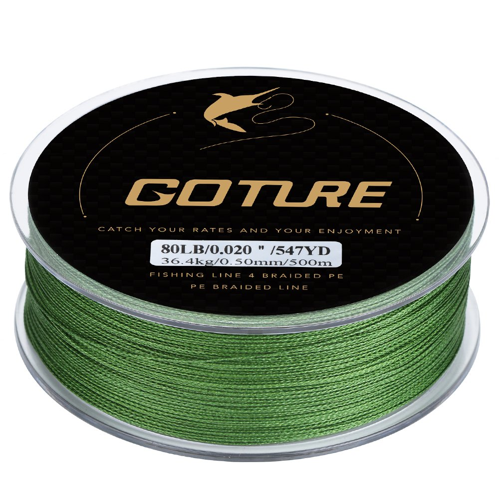 Goture 8-80LB Superpower Braided Fishing Line-Zero Stretch and High Tension Advanced Multifilamentline for Saltwater and Freshwater - Army Green, Blue, Blackish Green, Grey, Yellow- 2017 New by Goture (Image #1)