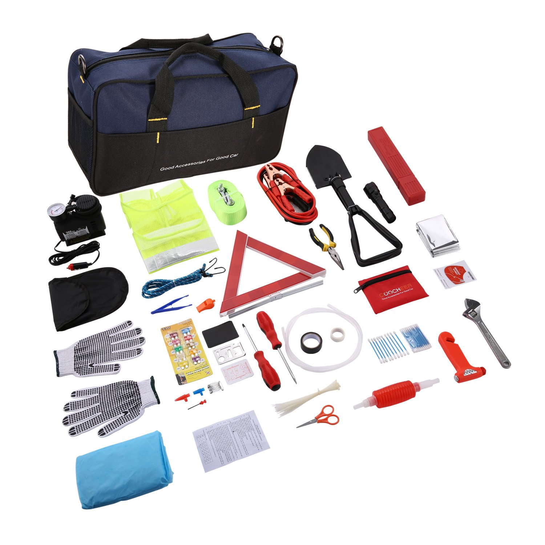 99 St/ück fiugsed Stra/ßenrand-Notfallwerkzeuge Auto kleine Notfallausr/üstung Tragbares Rettungsset Assistance Kit Autozeug Multifunktionales Erste-Hilfe-Set