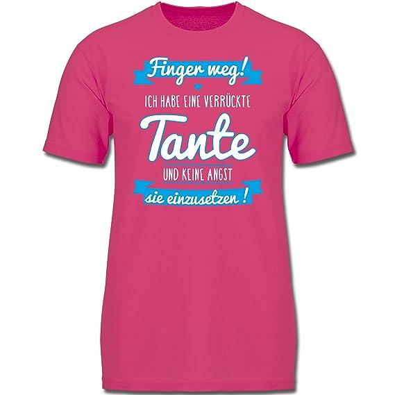 Sprüche Kind Ich Habe Eine Verrückte Tante Blau Jungen Kinder T Shirt