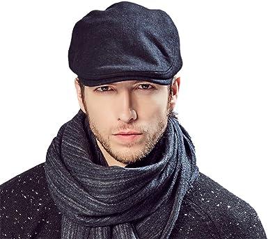 Kenmont Hombres Invierno otoño Hiedra Casquillo del Sombrero de ...