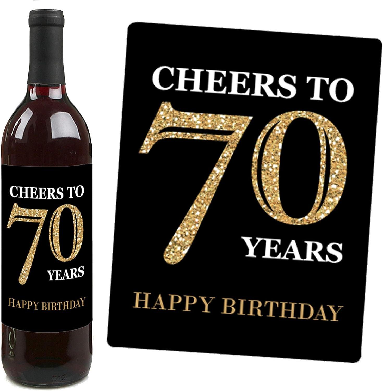 70th Birthday Gift for Men Custom Wine Labels