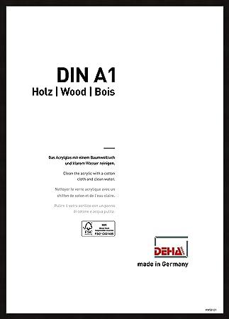 Eiche 59,4x84,1 cm DEHA Holz Bilderrahmen Fontana A1