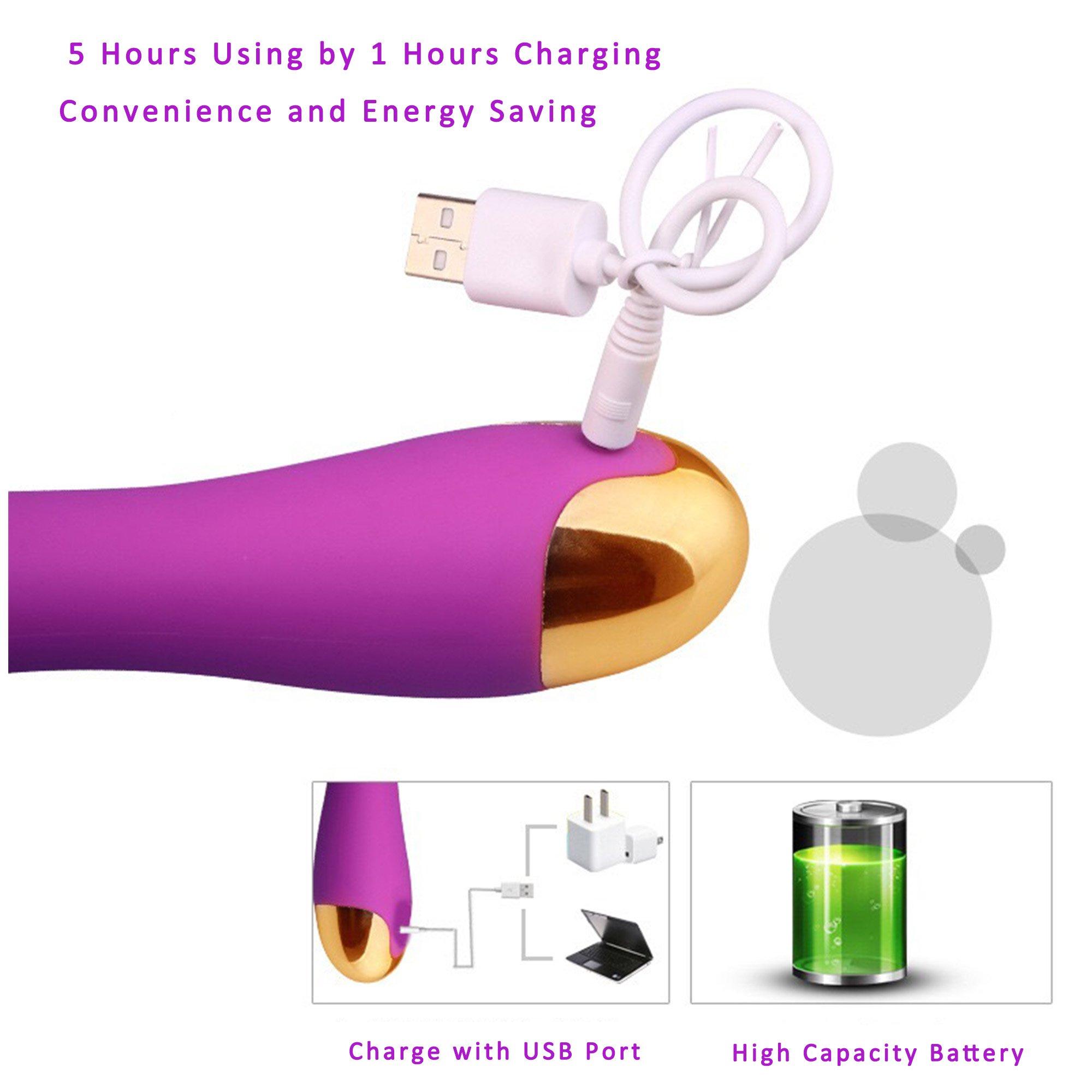 ViiNA VA Vibrador Masajeador 10 Frecuencias Vibración Carga por USB
