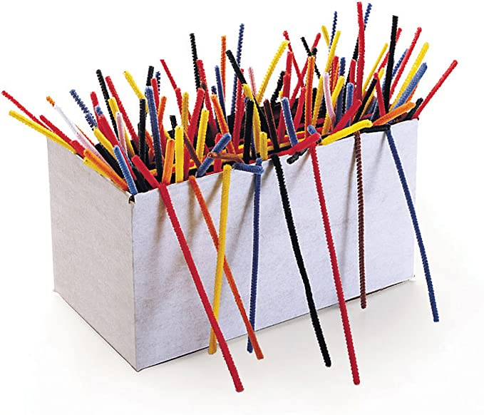 12-Inch x 4mm Metal Wire 100//Pack Assorted Polyester Chenille Kraft 711201 Regular Stems