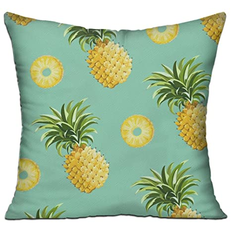 Amazon.com : Funny Pineapple Square Cotton Linen Sofa ...