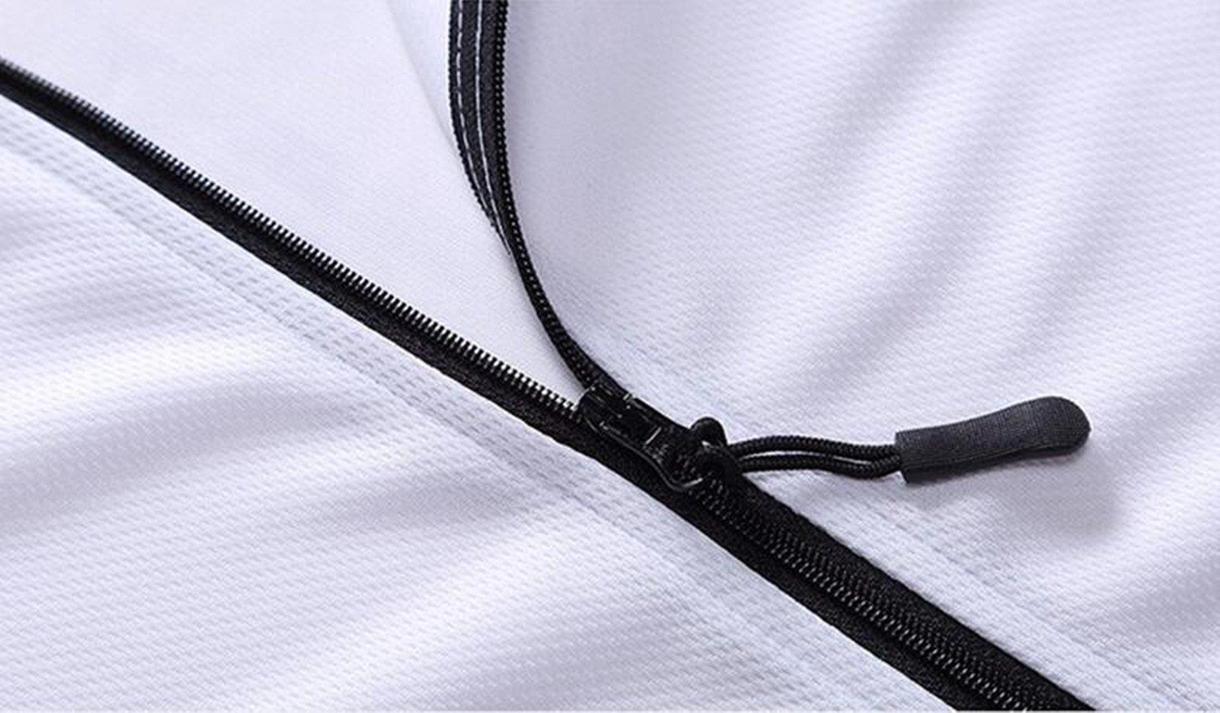 Qi Mai Men Outdoor Sunscreen Fishing Coats Quick Drying Rash Guards 1197 (L, White) by Qi Mai (Image #4)