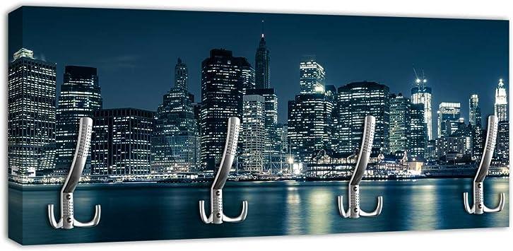 New York La Grande Mela Beige Avorio Made in Italy ARTI E MESTIERI 0AP3381C101 Appendiabiti da Parete N.Y.C