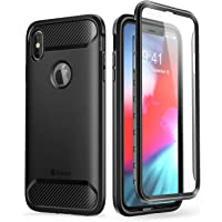 Clayco iPhone Xs Max Case with Built-in Screen Protector for Apple iPhone Xs Max 6.5 Inch 2018 (Black)