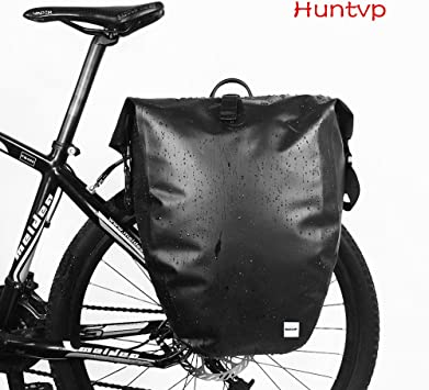 Huntvp 25L Bolsa Trasera de Bicicleta Impermeable y Multifunción ...