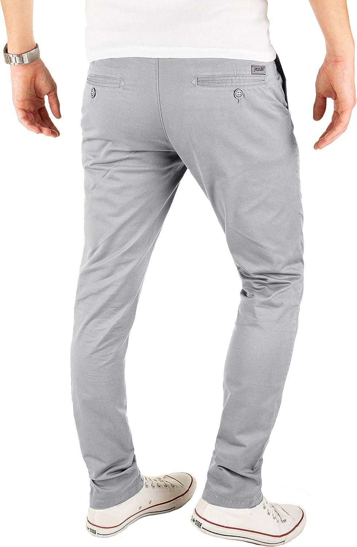 Yazubi Men's Trousers Chinos Pants Kyle Slim Grey (Gull 4r173802)