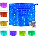 Ollny 33-Ft. 100 LED Rope Lights with Remote Control