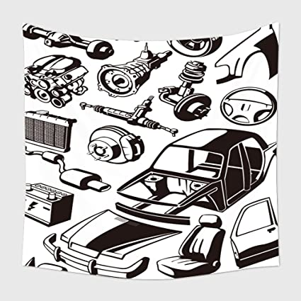 Amazon Com Home Decor Tapestry Wall Hanging Many Car Parts