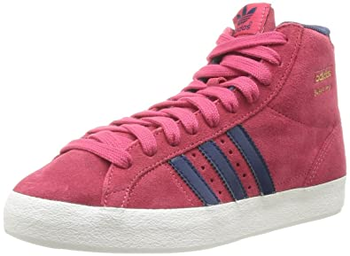 Details zu adidas Originals Basket Profi Damen Turnschuhe High Top Schuhe Rot