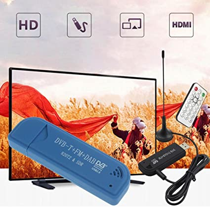 STRIR USB 2.0 Digital Portátil Stick De TV DVB-T + DAB + FM +