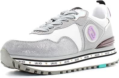 LIU JO Maxi Wonder 1 Sneaker Running Satin Silver BA1057TX101