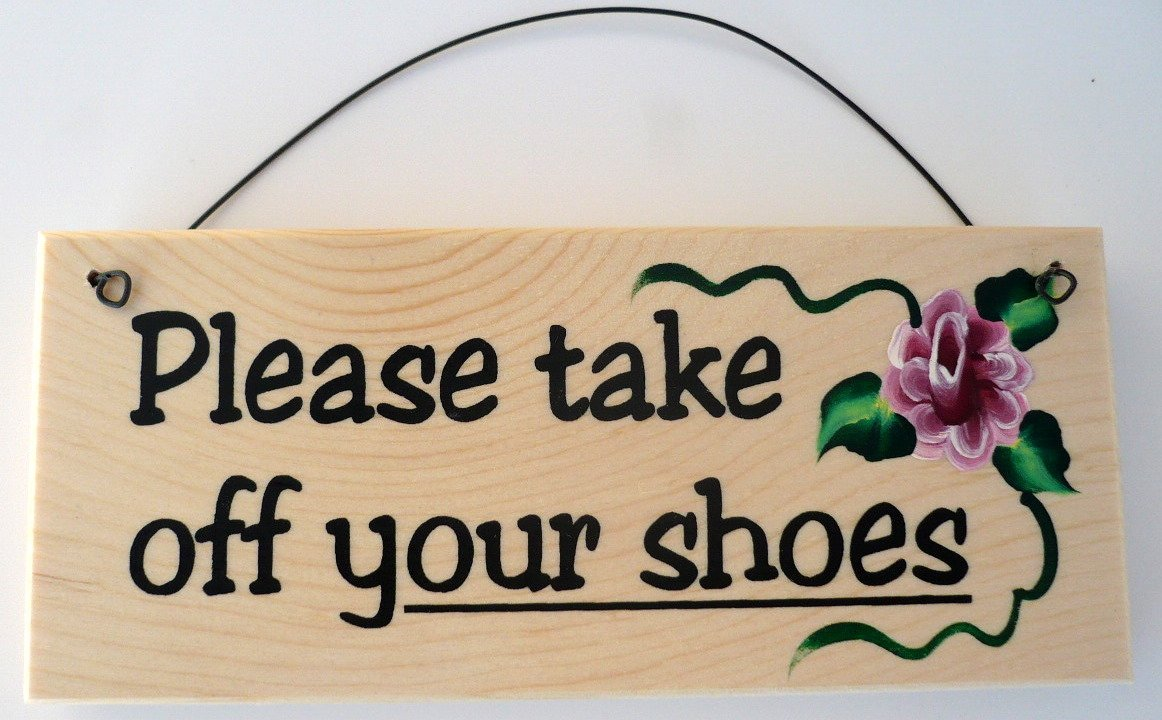 Doormat please remove shoes doormat images : Amazon.com: Please Take Off Your Shoes Sign: Home & Kitchen