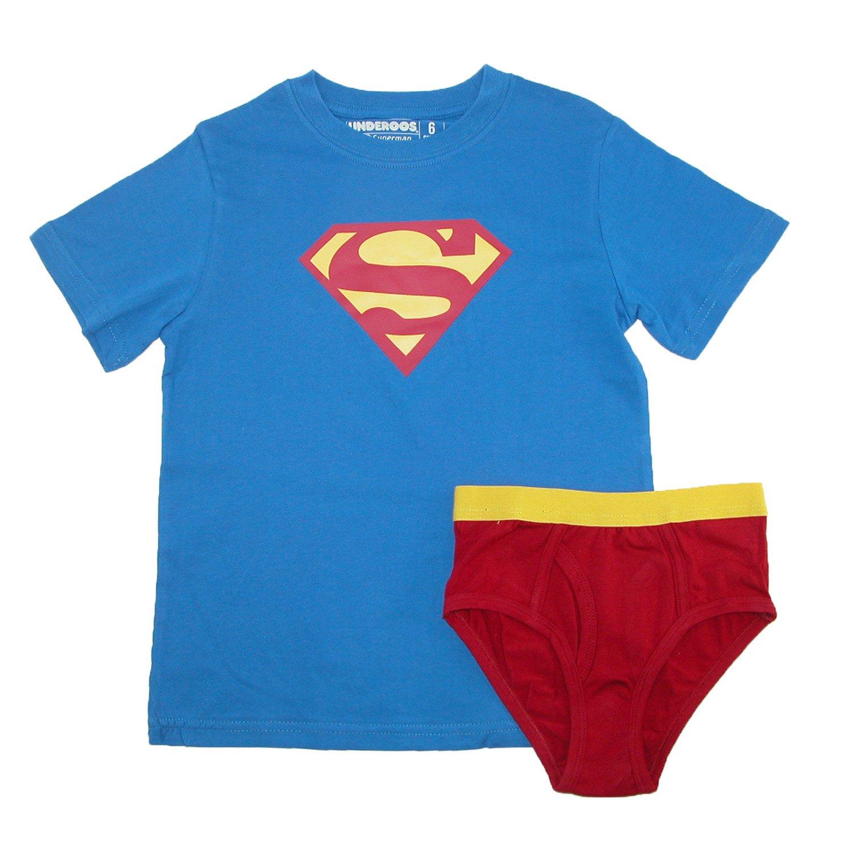 Underoos Boys Superman Underwear Shirt Set Small 6 Multi BIOWORLD