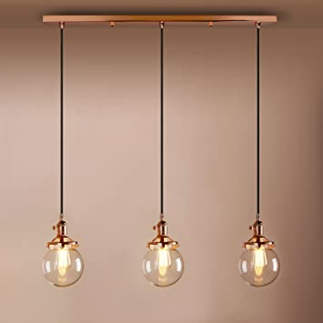 Pathson Industrial Vintage Modern Loft Bar Pendant Light Fittings Cluster Chandelier Edison Hanging Ceiling Lamp