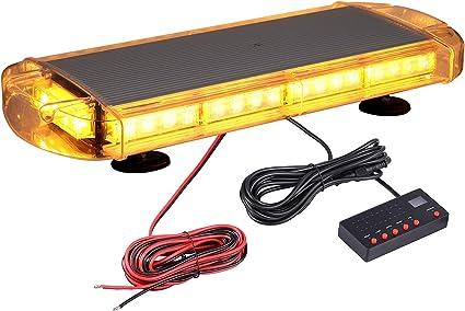 Avertissement durgence Avertissement de danger Balise davertissement 12 24V DC S/écurit/é LED clignotante Lumi/ère stroboscopique Balise de danger durgence pour voiture