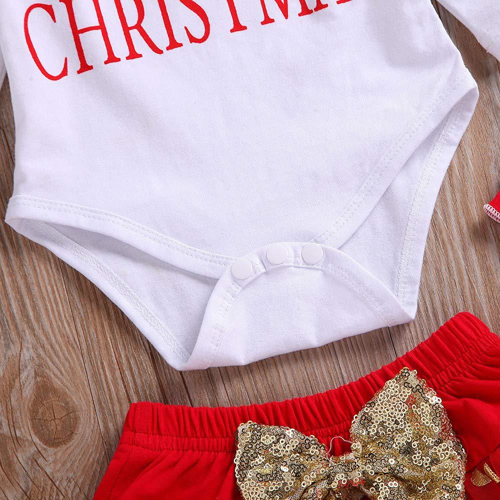 Diadema Calcetines Navidad Conjunto Ropa para Reci/én Nacido Beb/é 0-24 Meses Disfraz Navidad Bebe Ni/ña MY 1st Christmas Monos Tops Tutu Falda