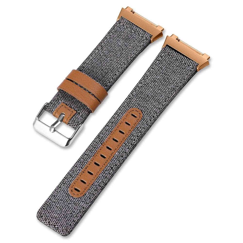 CHIMAERA Compatible Smart Watch Bands for Fitbit Ionic Fabric + Leather Band Replacement for Sport Smartwatch Strap for Men Women