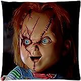 Charles Ray Lee Chucky-Puppe, robust, einzigartiges Motiv rechteckig, 18 x 45.72 cm ES modisch Diy Schutzhülle für Kissen, Design von Engood