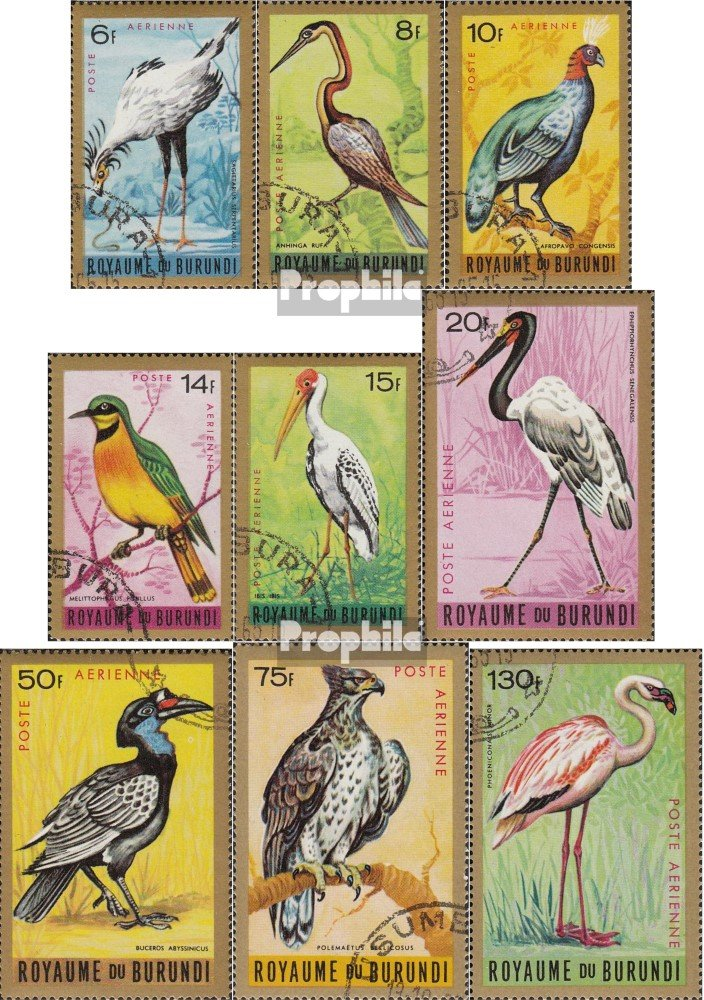 V/ögel Briefmarken f/ür Sammler 1965 V/ögel Prophila Collection Burundi 158-166 kompl.Ausg.