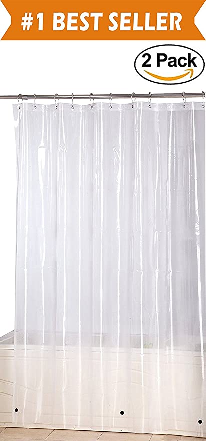 Elegant Comfort Water Repellent Antibacterial And Mildew Resistant Heavy Weight Waterproof Clear Shower Curtain