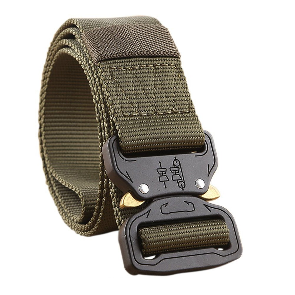 Thickyuan Men's Tactical Belt Heavy Duty Webbing Belt Adjustable Military Style Nylon Belts with Metal Buckle|MOLLE Tactical CQB Rigger|multiple choices by Thickyuan (Image #2)