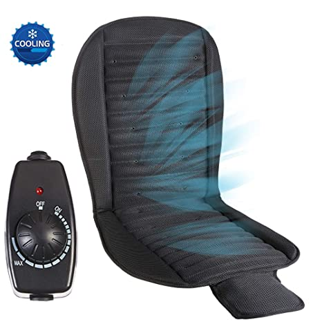 Big Ant Cooling Car Seat Cushion 12V Seat Covers Automotive Universal Fit Full Size Seat Cushion Ventilate Breathable Air Flow with Holes for Driver Seat Vehicle Front and Back Seats in Hot Summer