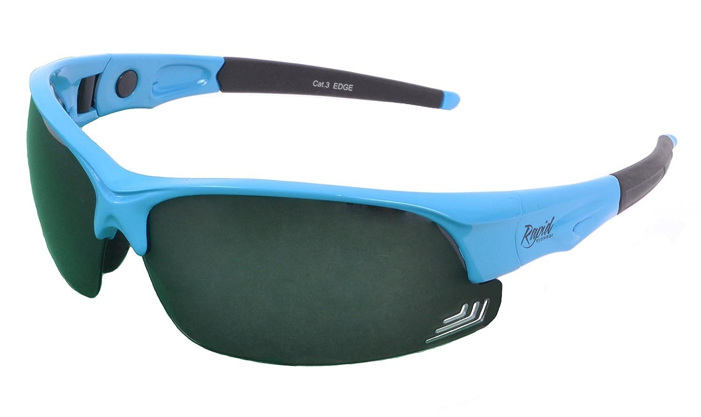 Rapid Eyewear 'Edge' Rot POLARISIERTE GOLFBRILLE Mit Wechselgläser x 3. Für Herren und Damen. Golf Sonnenbrille Mit Blendschutz UV 400 Gläsern 5mEcgo