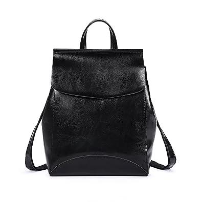 Amazon.com  Womens Genuine leather Purses and Handbags Ladies Designer  Satchel Tote Bag Shoulder Bags (Black)  Shoes a454c6d082de7