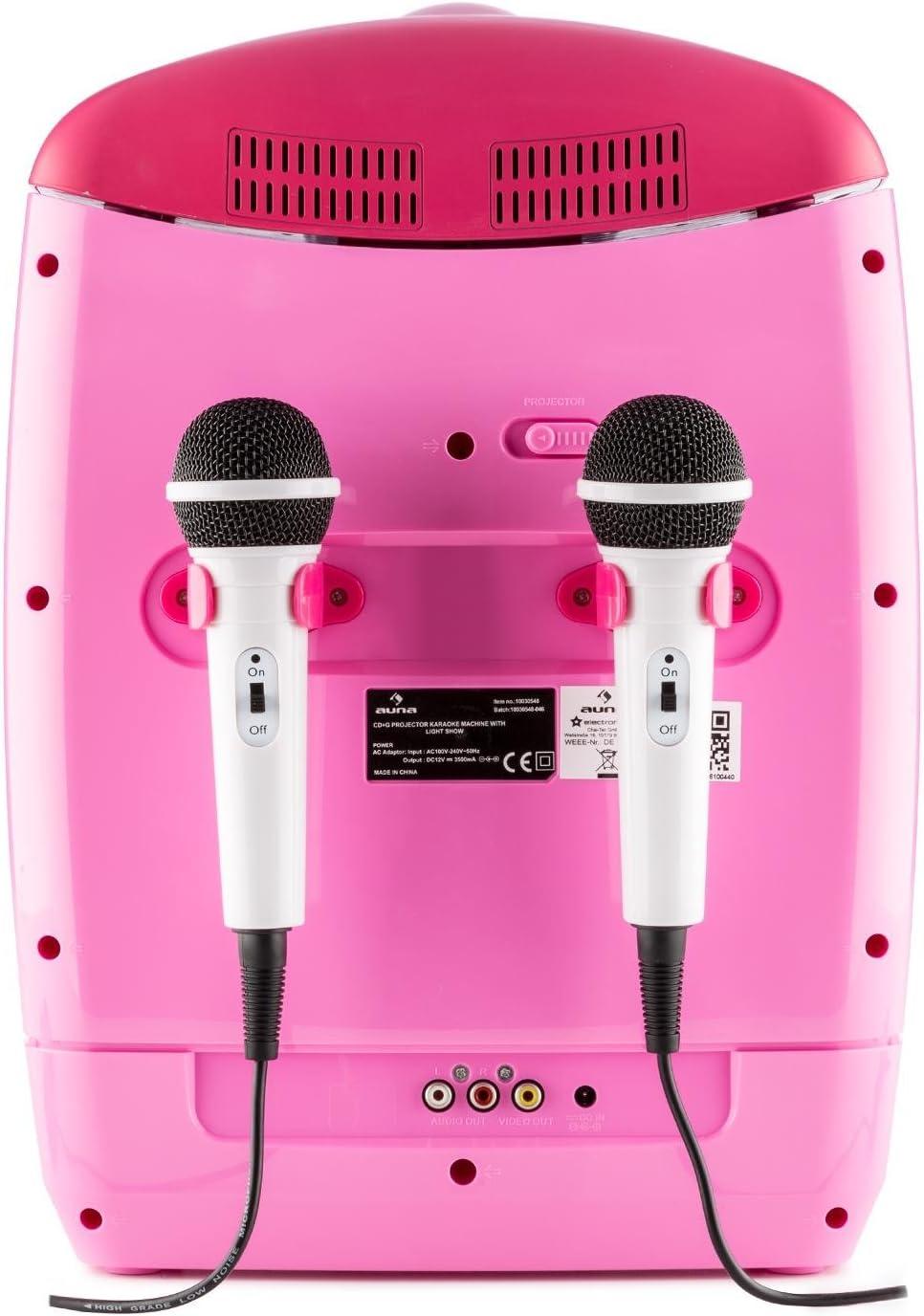 auna Kara Projectura - Set de Karaoke , Vídeo proyector LCD , 2 x ...