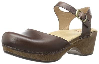 Dansko Women's Sam Flat Sandal, Teak Vintage Pull up, 35 EU/4.5-