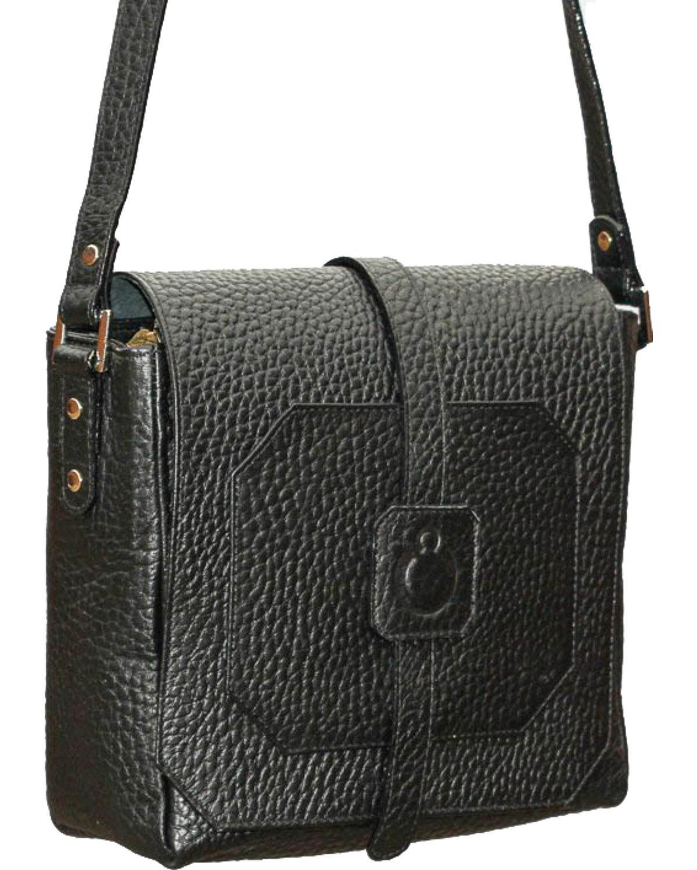 Designer Concealed Carry Women's Cubic Crossbody Bag Black One Size