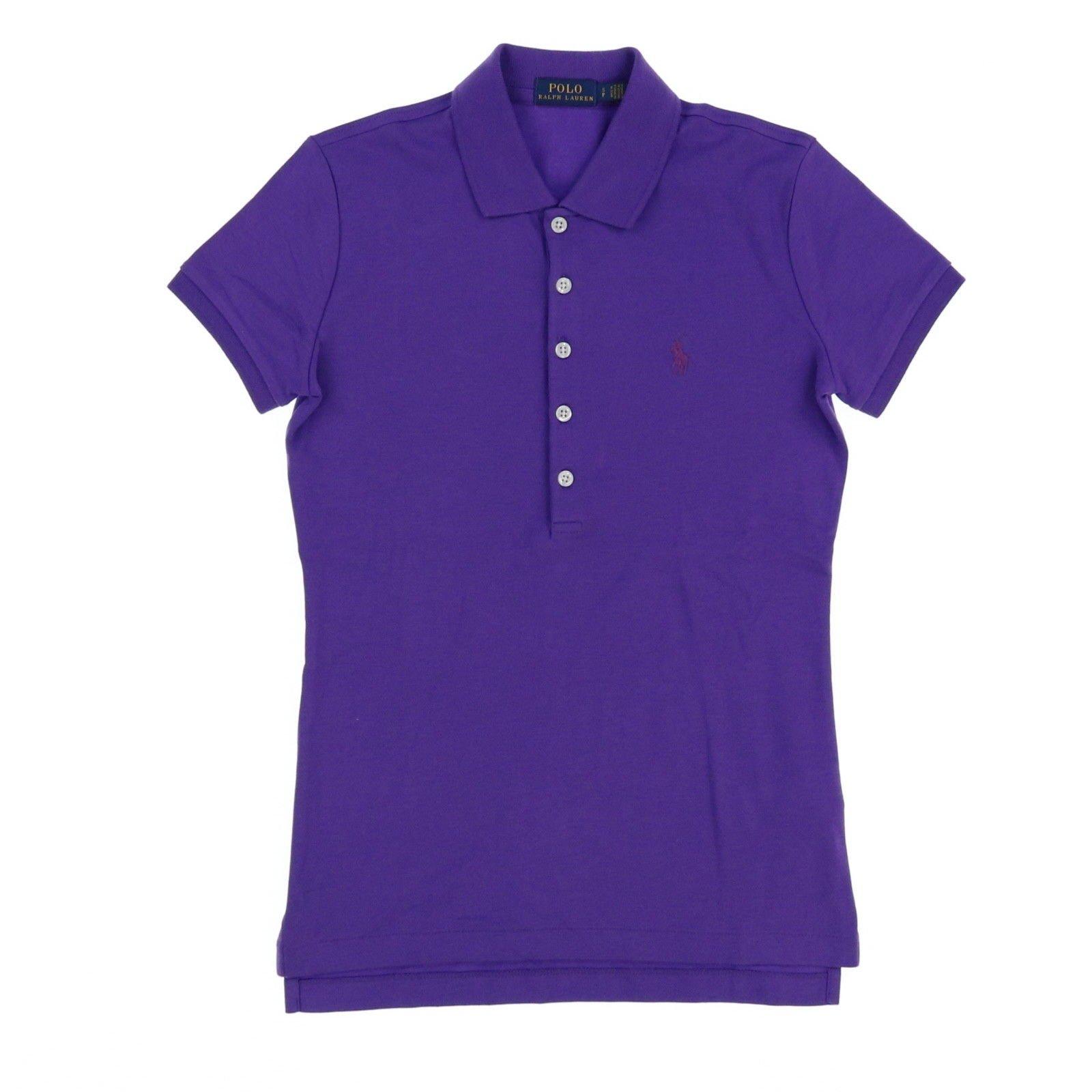 Polo Ralph Lauren Womens Polo Shirt (Medium, Purple)