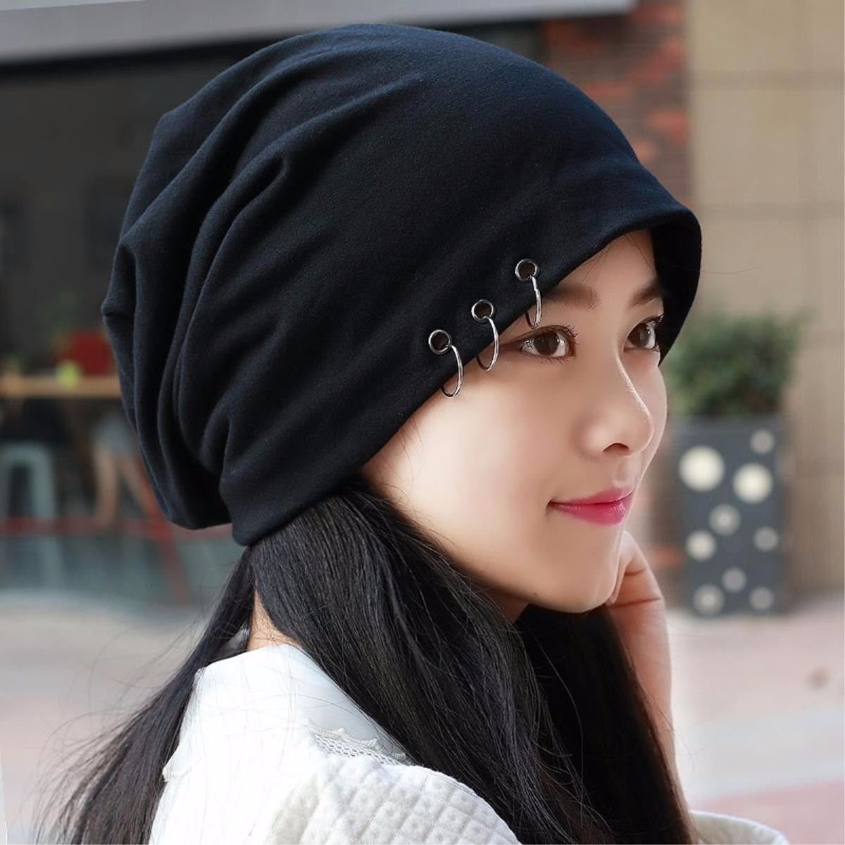 Amazon.com  RangYR Women s Hat Ms Cap Male Elastic Hoop Turban Hat Men s  Head Cover Spring Summer Pregnant Women Hat Black  Sports   Outdoors 8ac5e7cbc695