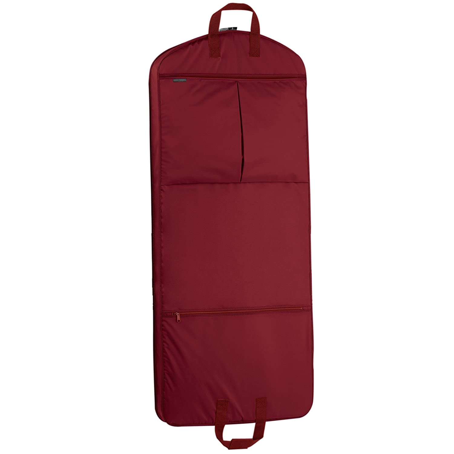 WallyBags 52-inch Dress Length, Carry-On Garment Bag with Two Pockets 855 RED