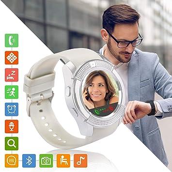 Tipmant Reloj Inteligente Mujer Hombre SN08 Smartwatch Pantalla ...