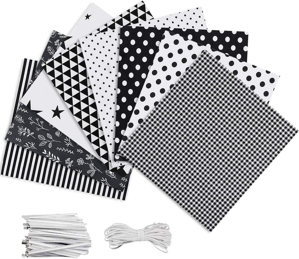 Jeteven 8pcs DIY Cotton Fabric Patchwork Squares  with Pattern WAS £10.99 NOW £6 w/code JetevenX5 @ Amazon