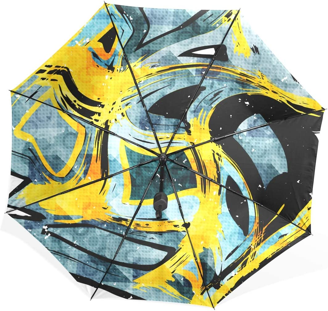 Portable Umbrella Beautiful Color Abstract Pattern Vector Illustration Portable Compact Folding Umbrella Anti Uv Protection Windproof Outdoor Travel Women Mens Umbrella Windproof Compact